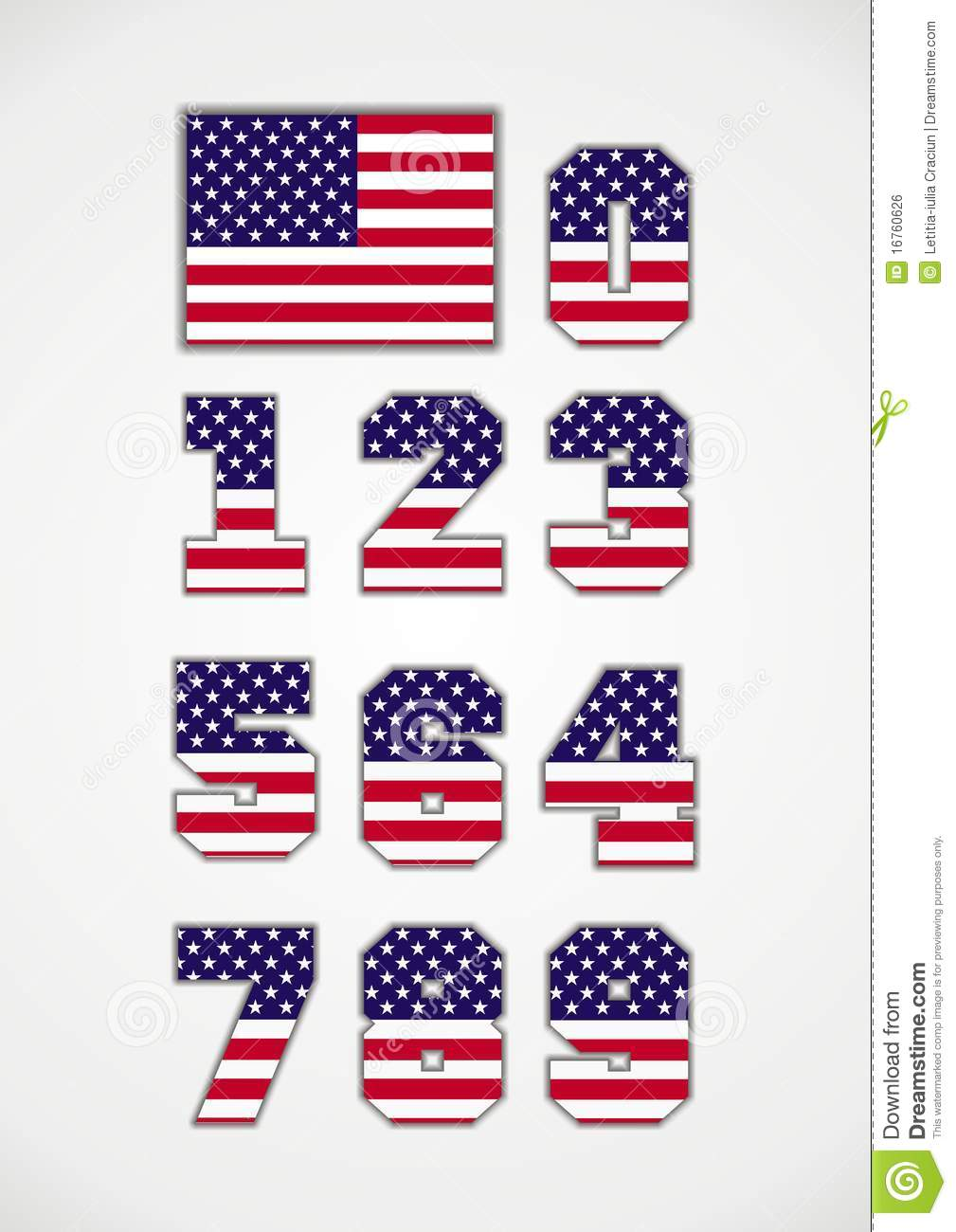 american flag and numbers royalty free stock image image route 66 clip art map route 66 clipart oklahoma