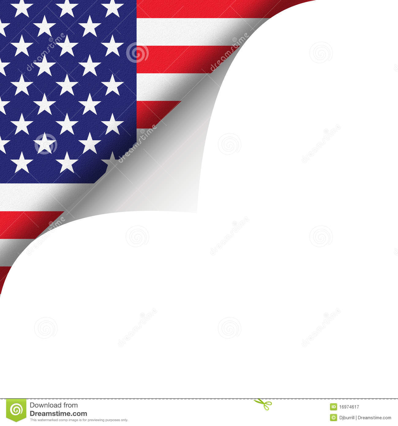 American Flag And Page Curl Royalty Free Stock Photography - Image ...