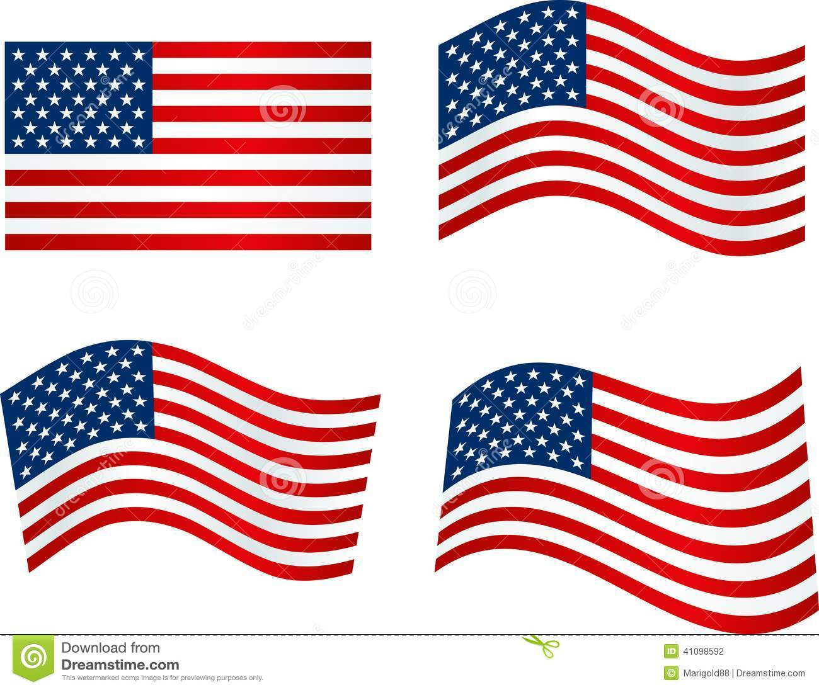 American Flag Stock Vector - Image: 41098592