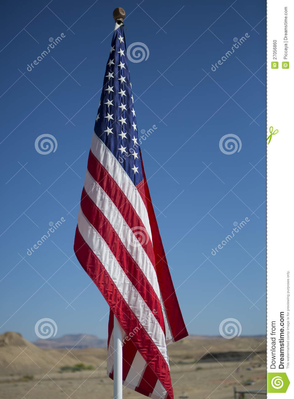 american flag on pole stock photo