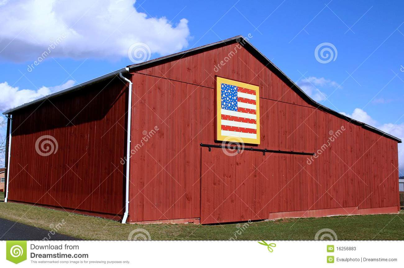 American Flag Quilt Barn Stock Photos Image 16256883