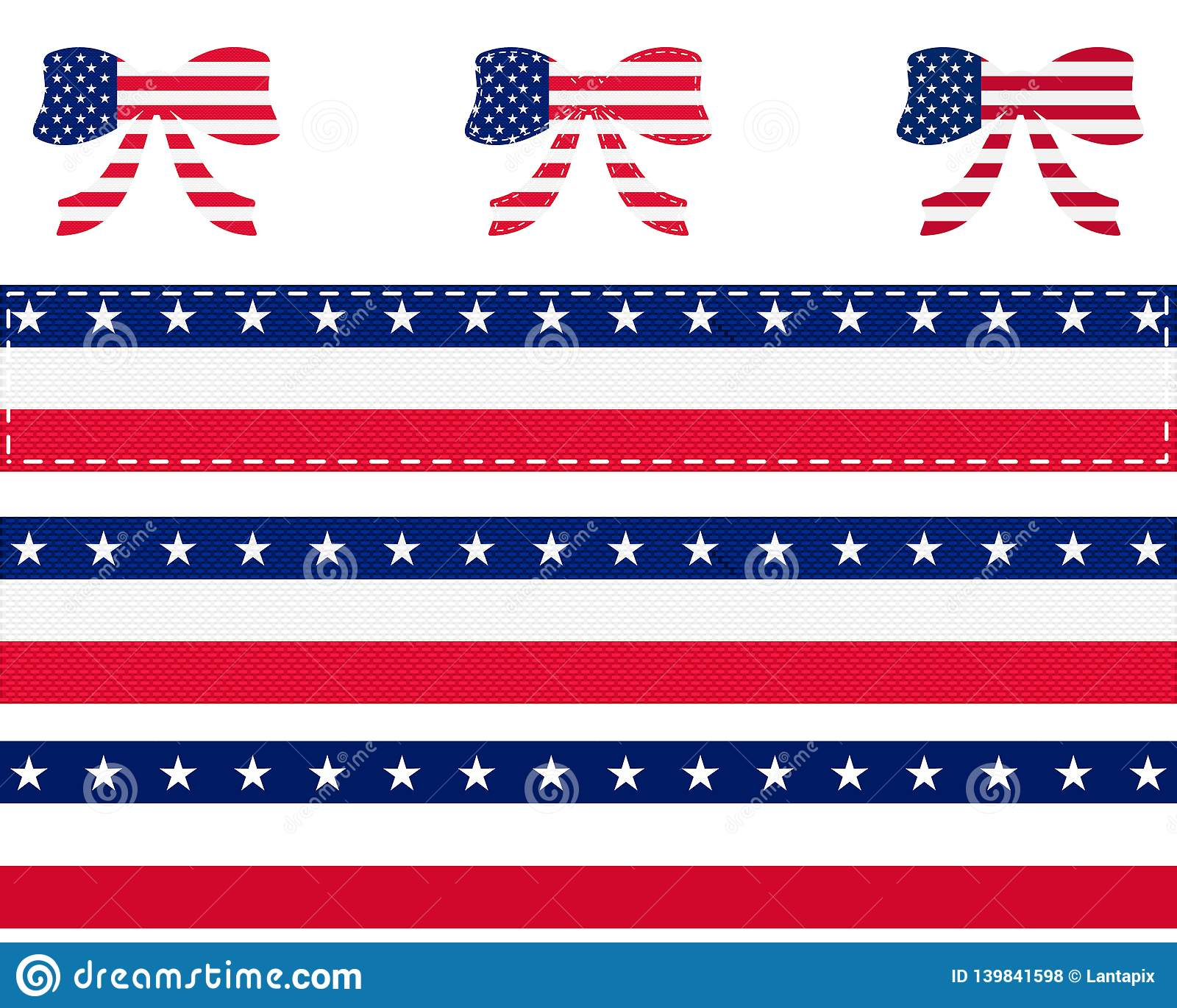 020e5ce77f7 American Flag Ribbon Stock Illustrations – 8