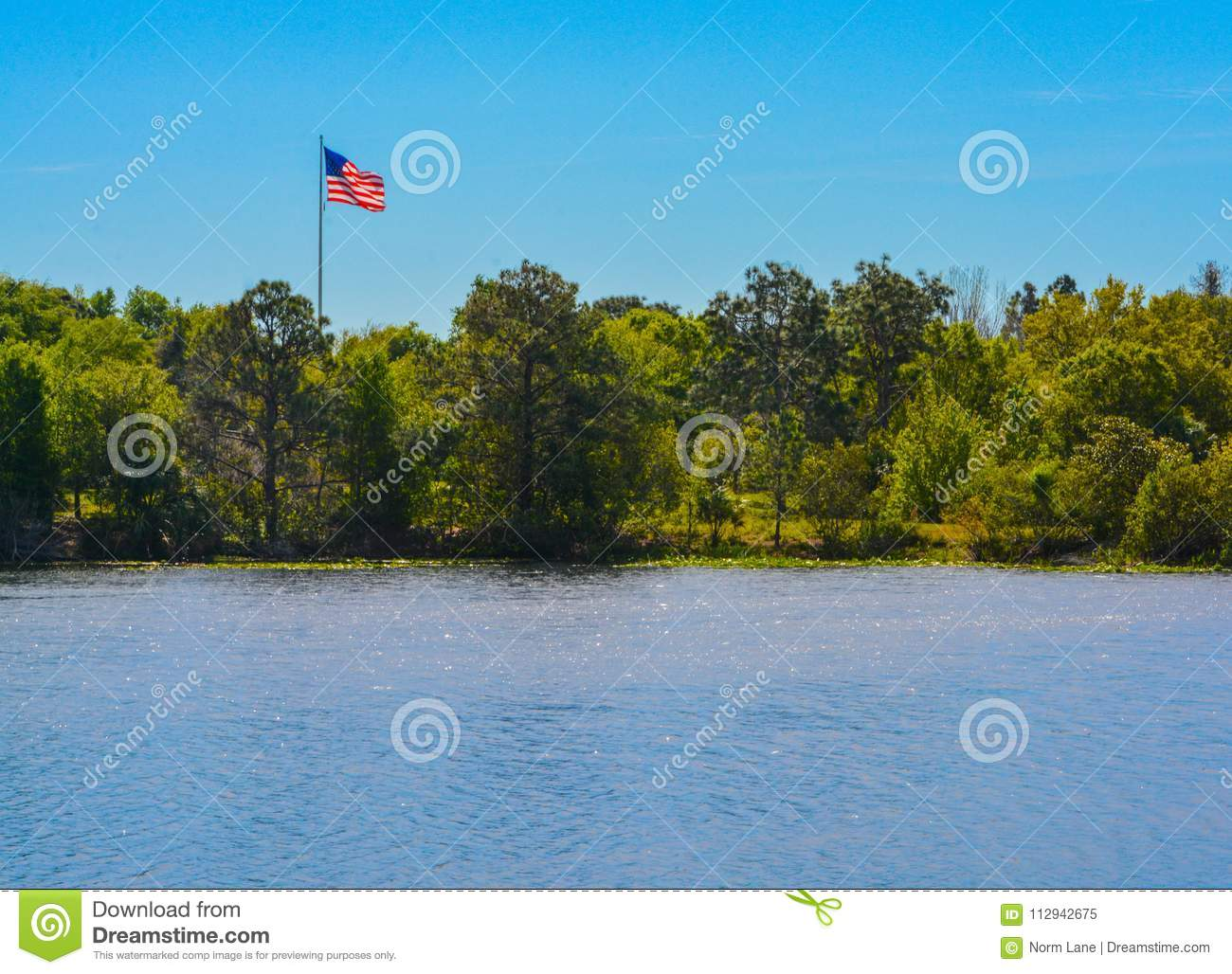 The American Flag, Stars and Stripes, Red, White and Blue