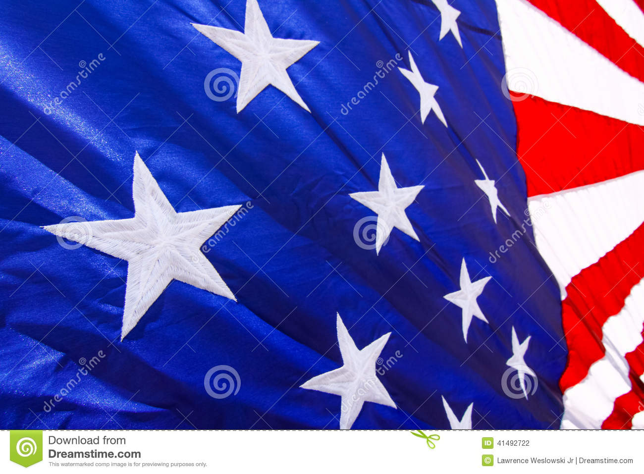 39236ca5334 American Flag Closeup White Stars Blue Background Stock Images ...