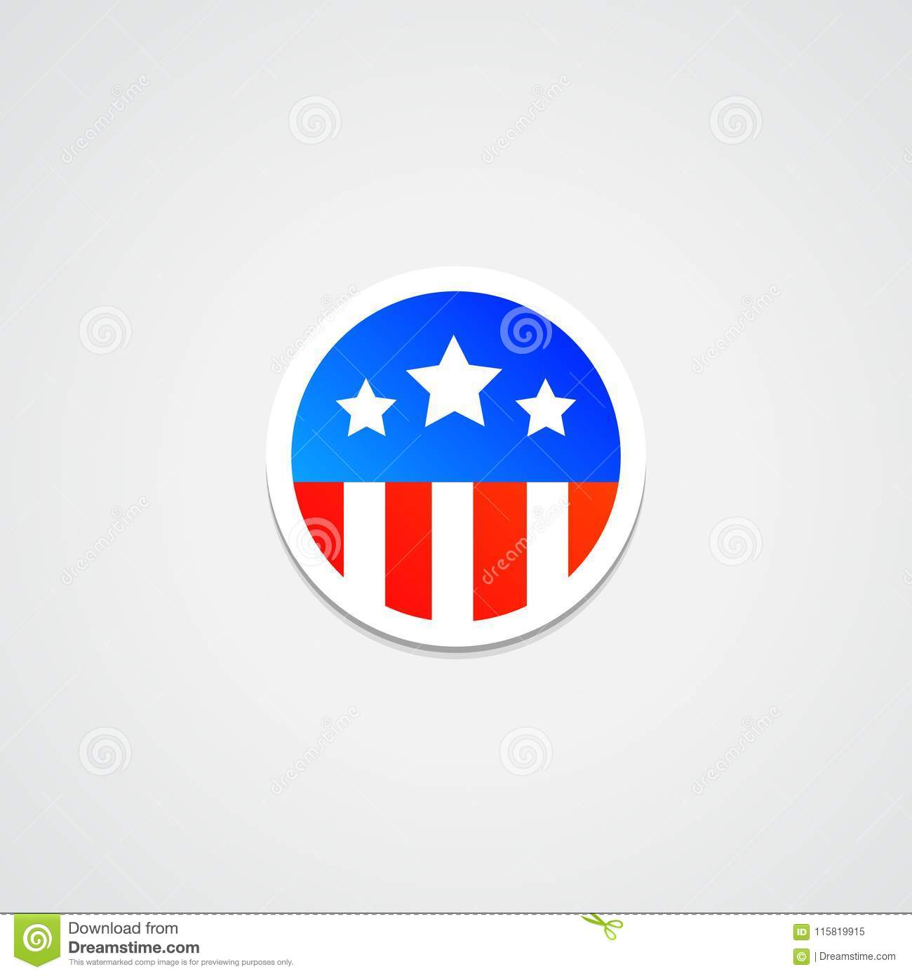 865b037aa52 Digital Illustration of American Flag Sticker. More similar stock  illustrations