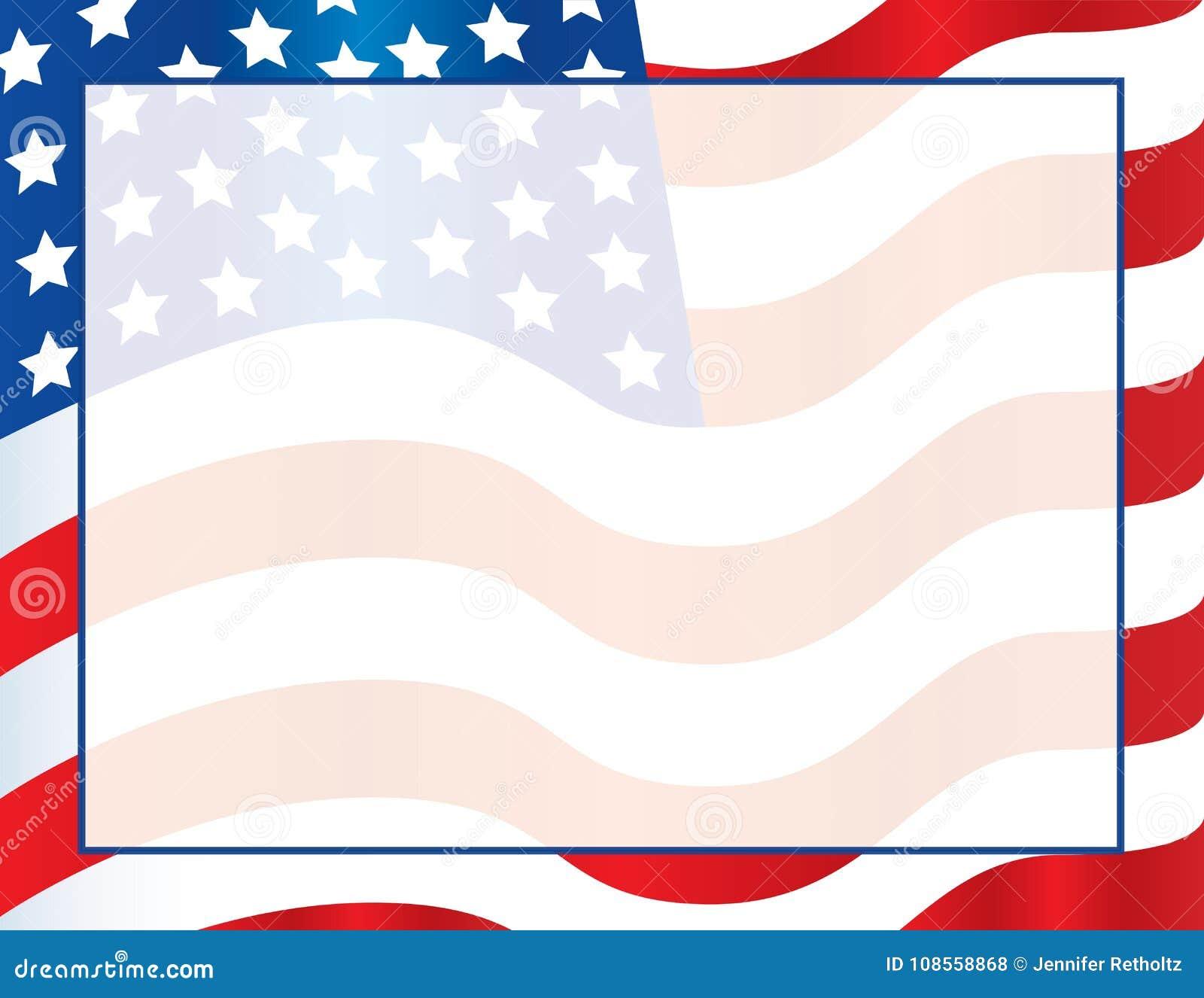 american flag template poster or postcard background. Black Bedroom Furniture Sets. Home Design Ideas