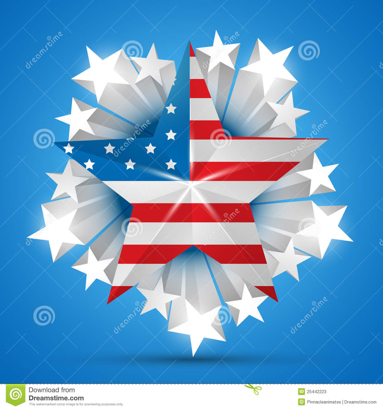 American Flag Vector Stock Photos - Image: 25442223