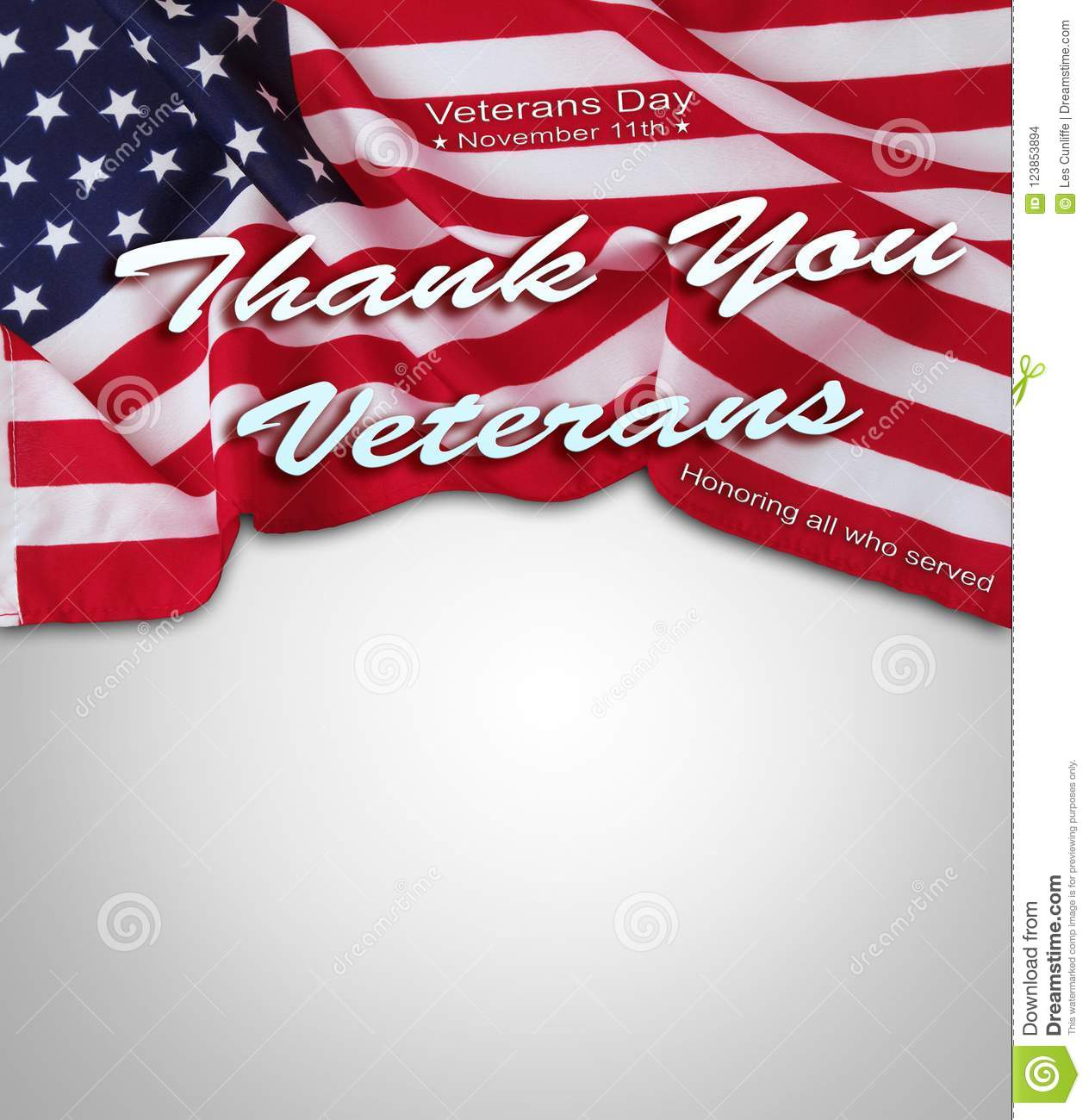 Veterans Day American Flag Stock Photo Image Of Flag 123853894