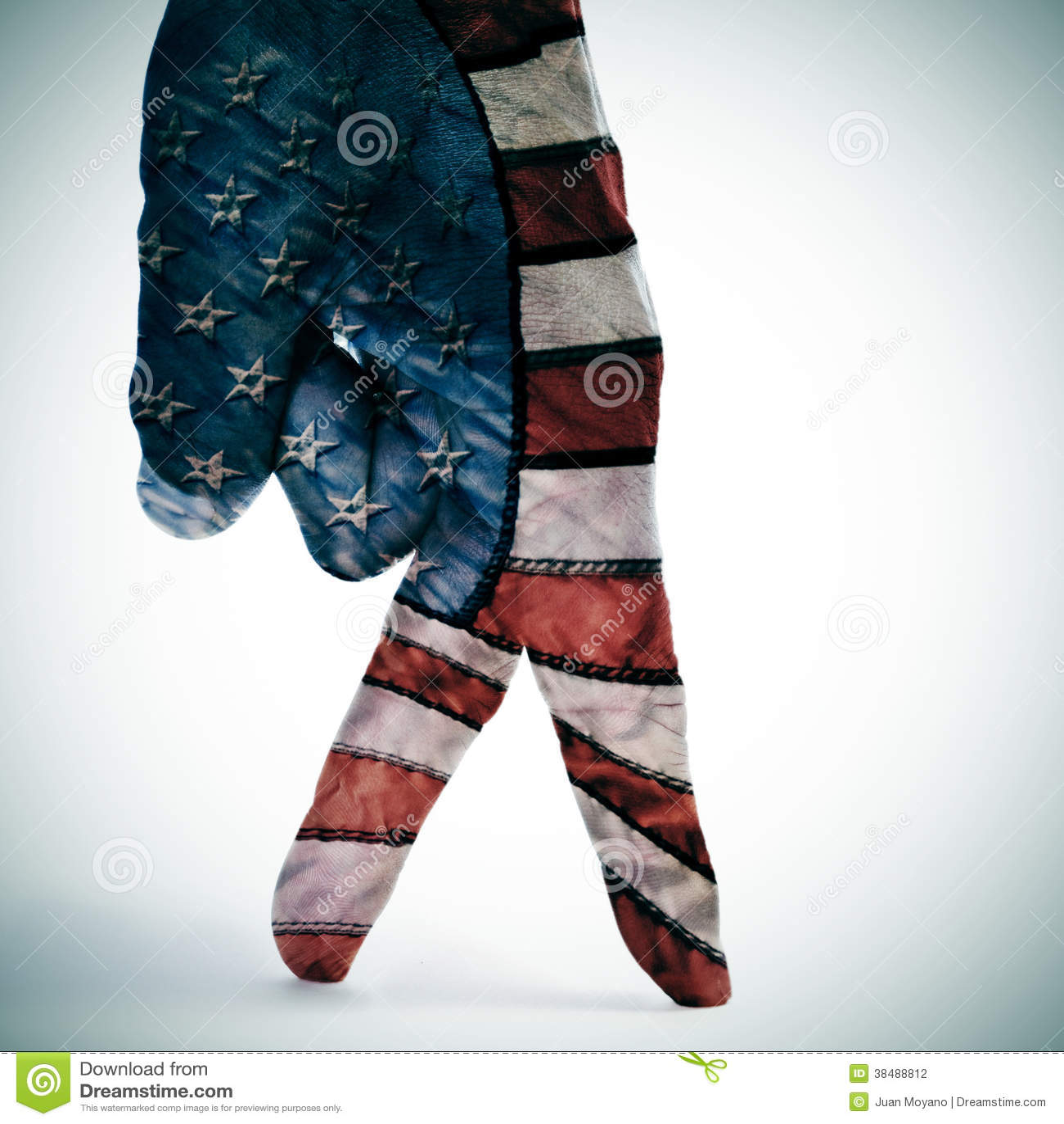 American flag walking