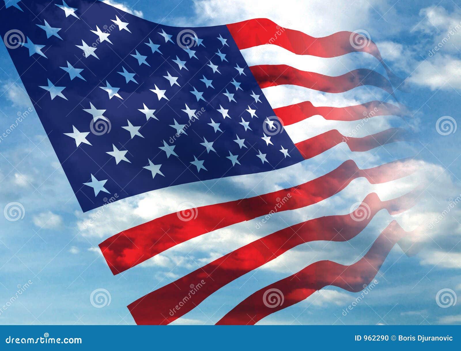 American Flag Waving S...