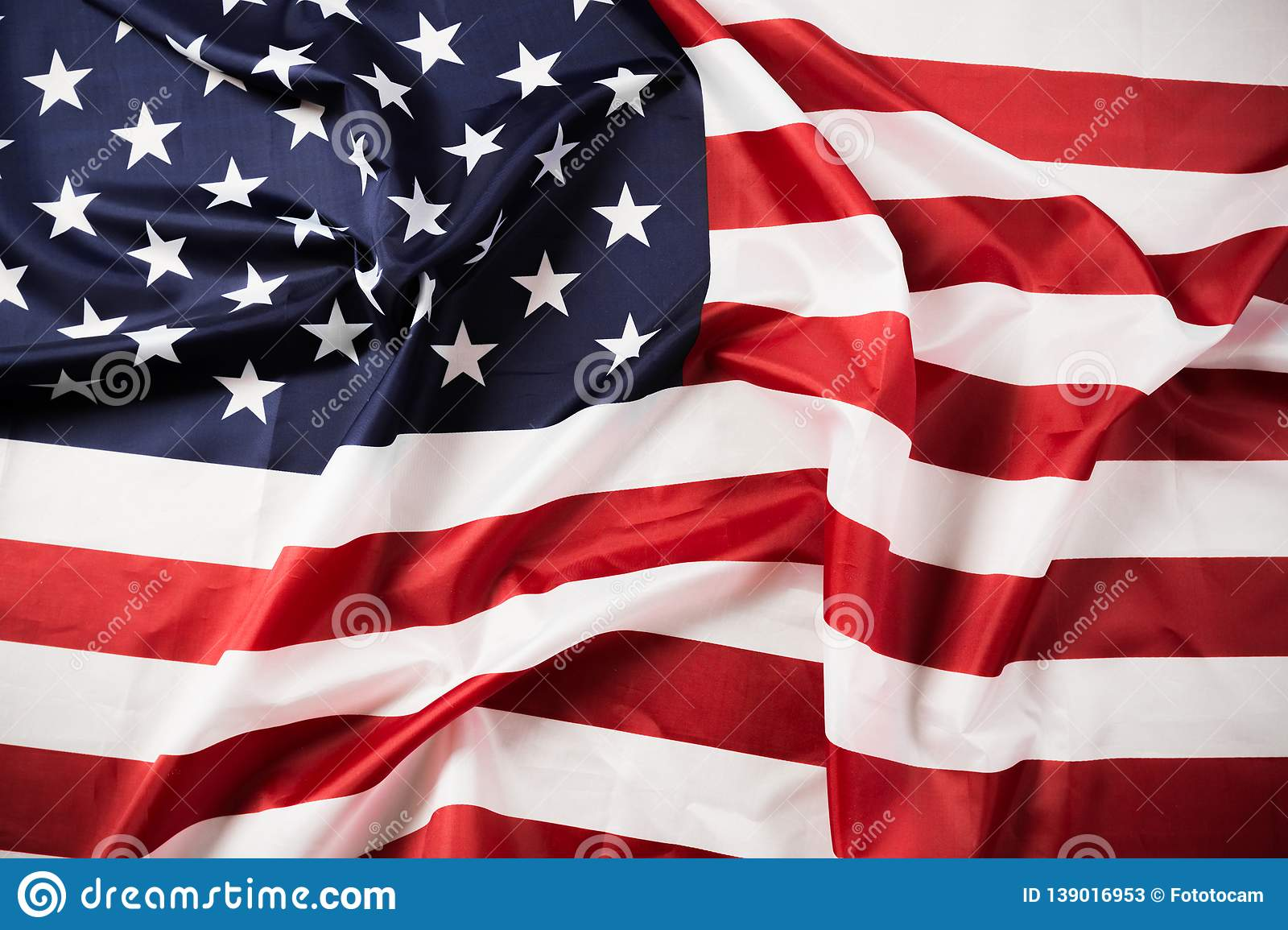 American Flag Waving Background  Independence Day, Memorial