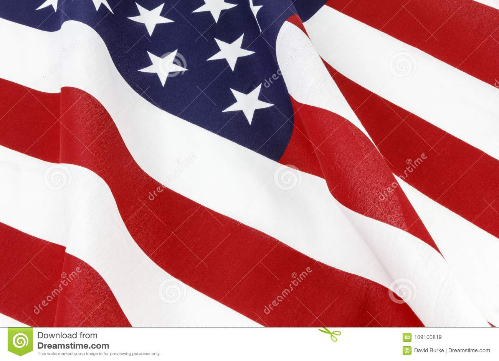 American flag waving display