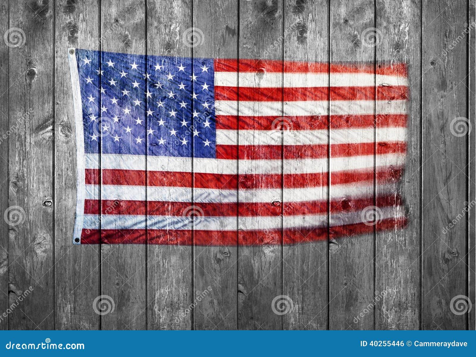 American Flag Wood Background Stock Photo Image 40255446