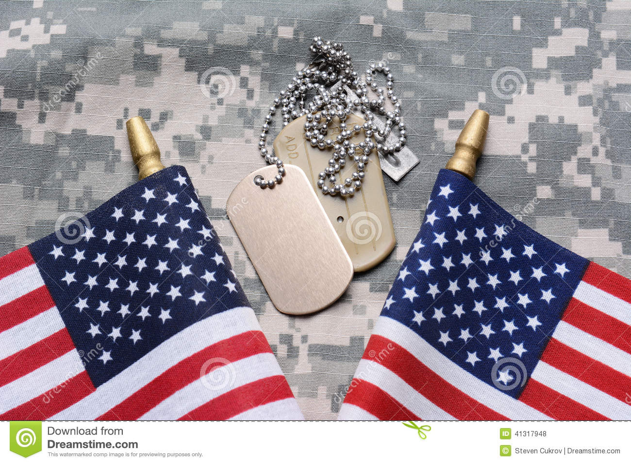 cca7a5b1b95c American Flags And Dog Tags Stock Photo - Image of fatigues
