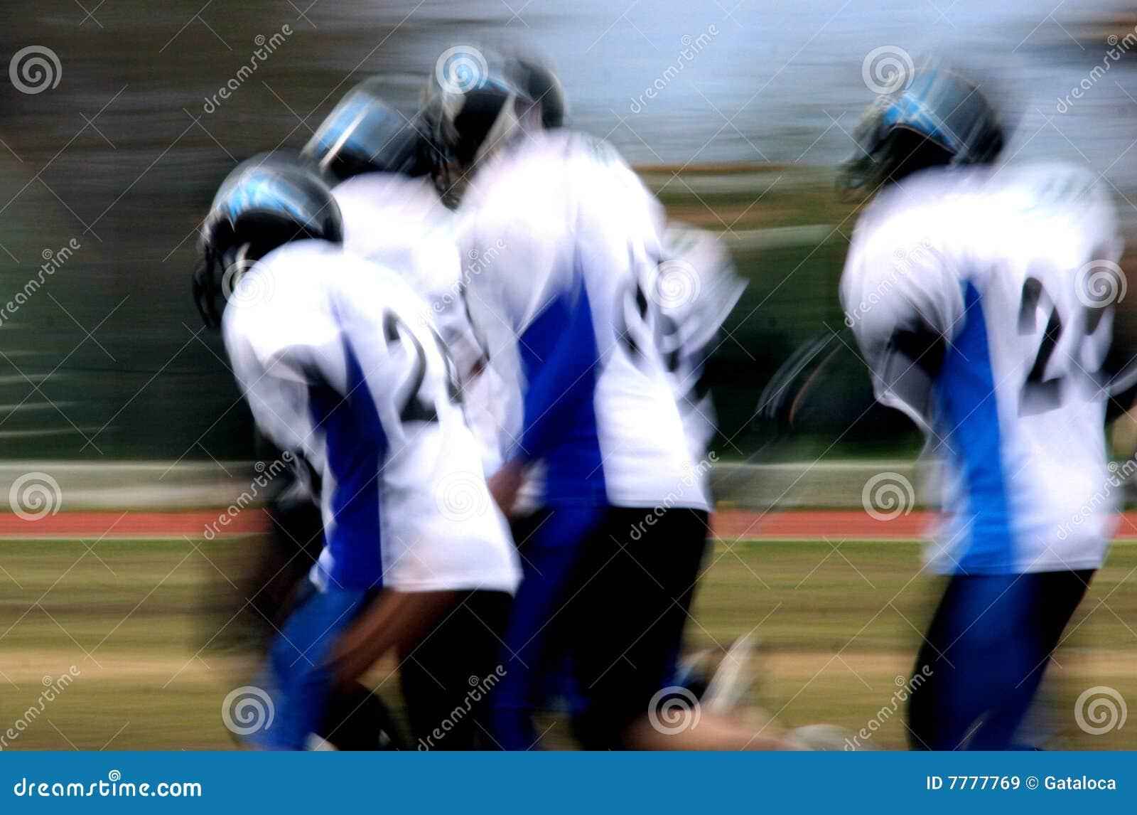 American football abstract blur