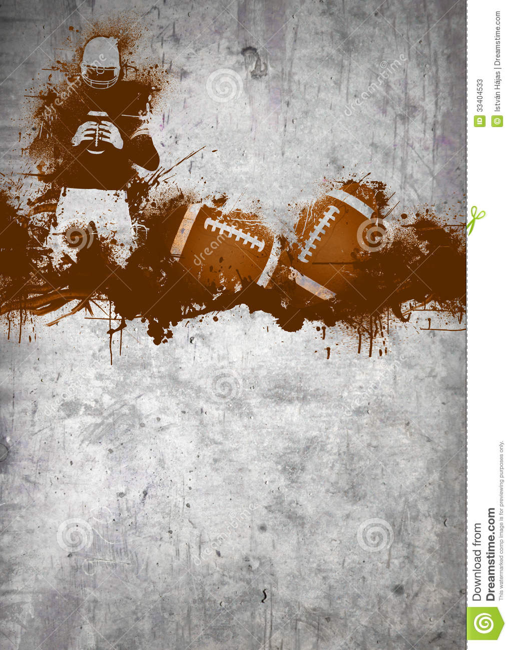 Abstract grunge american football invitation poster or flyer ...