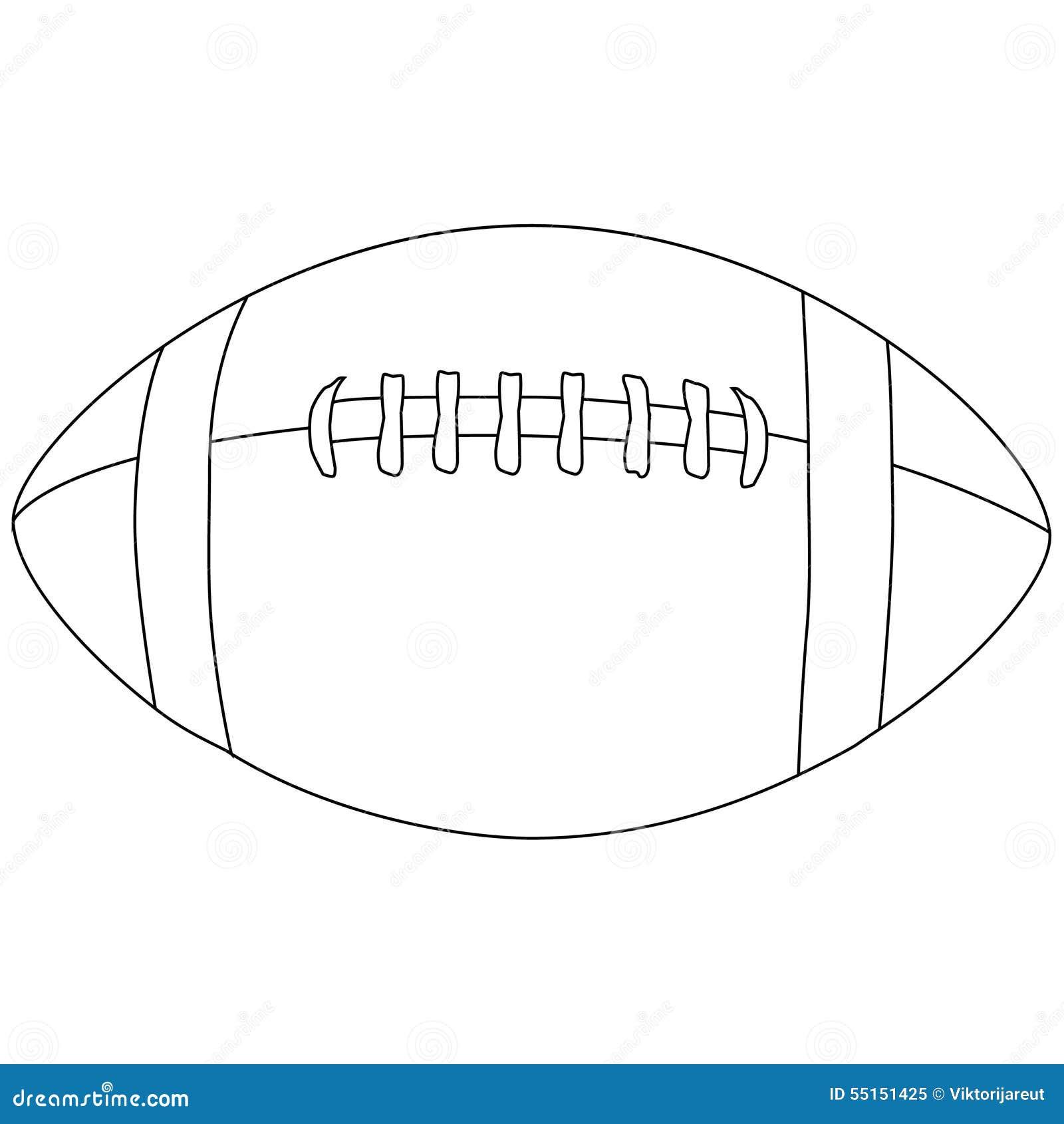 American Football Ball Outline Stock Illustration Illustration Of