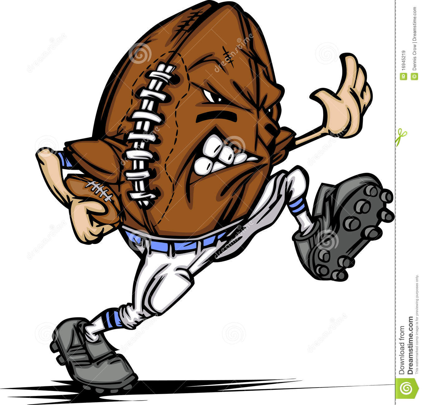 American Football Ball Player Cartoon Royalty Free Stock Images ...