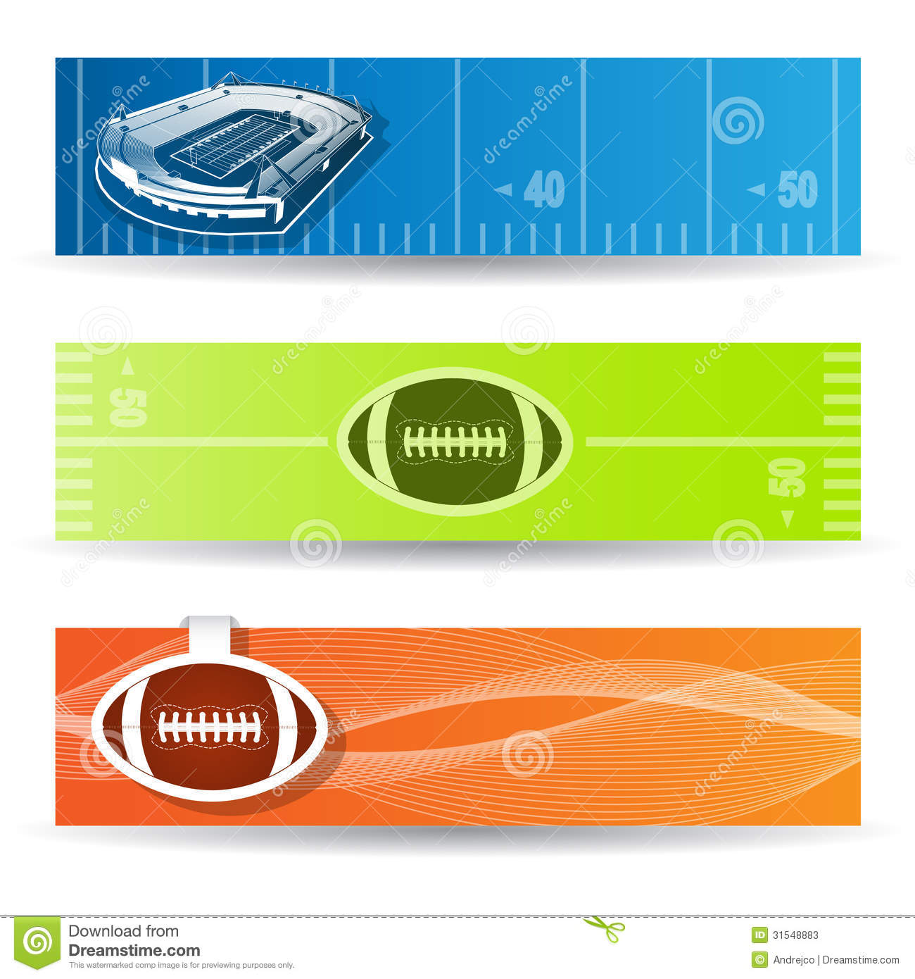 American Football Banners Stock Vector Illustration Of Football 31548883