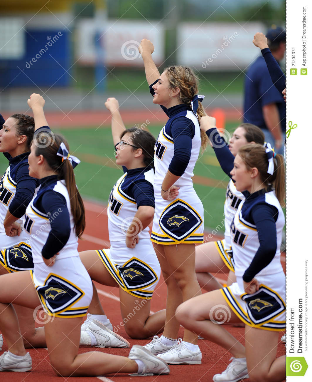 American Football Cheerleaders - High School Editorial Photography ...