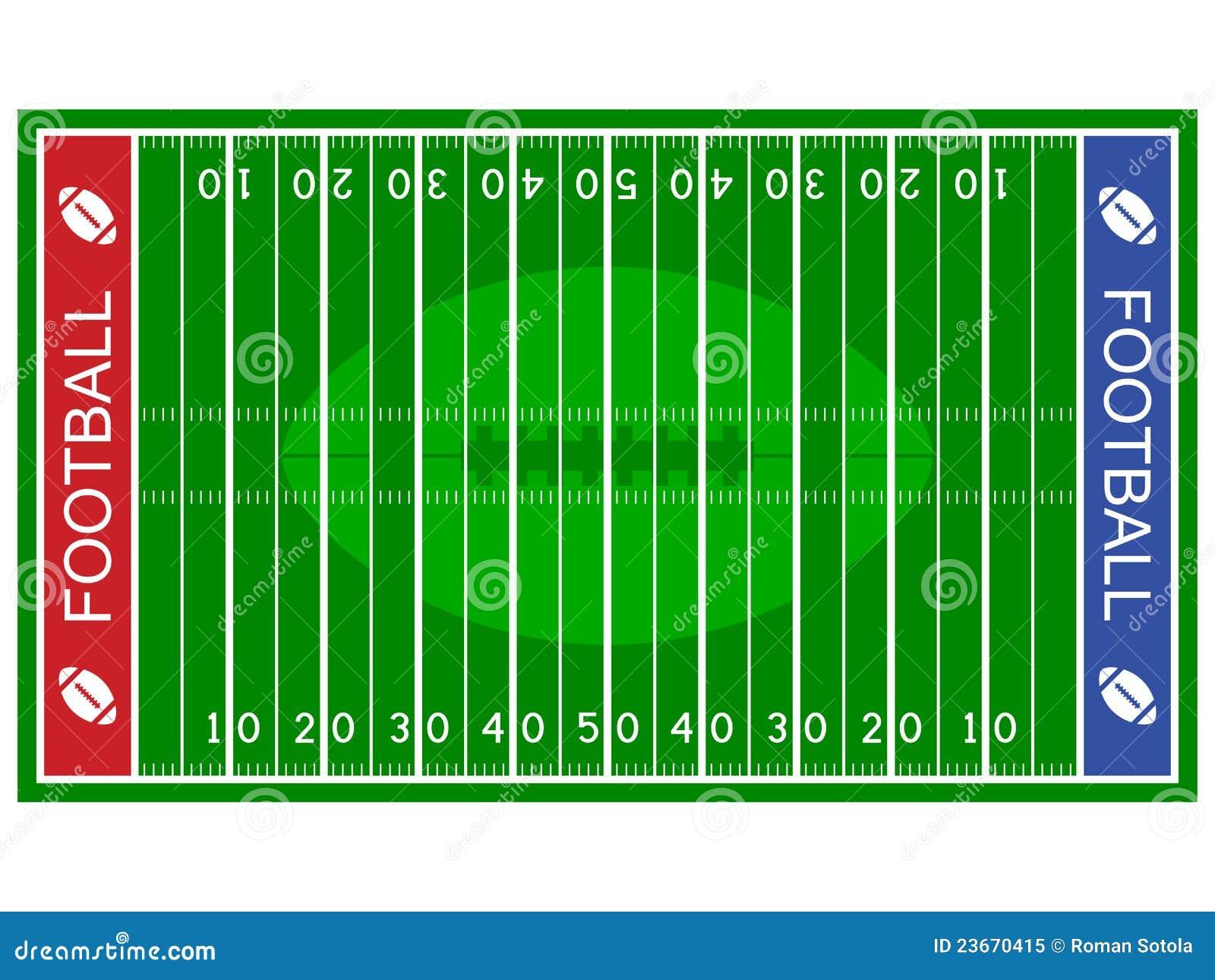 American football field stock vector. Illustration of icon - 23670415