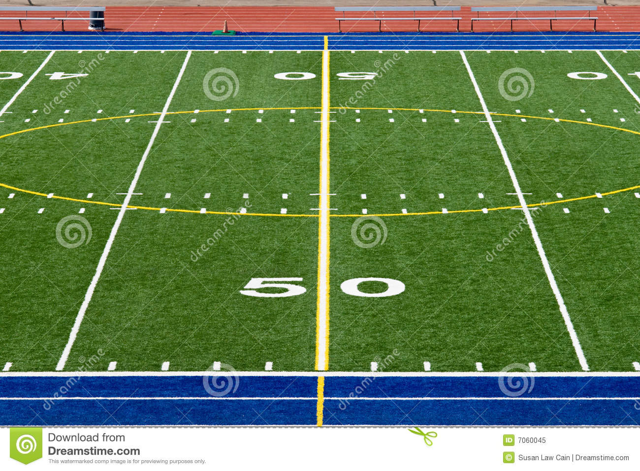 American Football Field Royalty Free Stock Photo Image