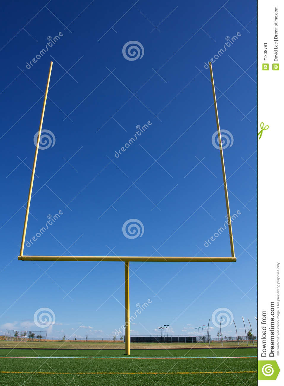 American Football Field Goal Posts Stock Image - Image: 21308781