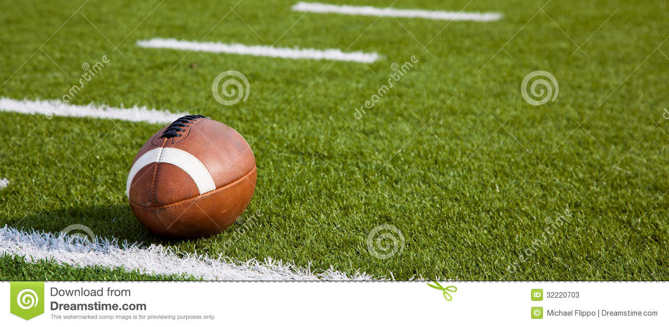 Download An American Football On Field Stock Image - Image of hash, stadium: 32220703