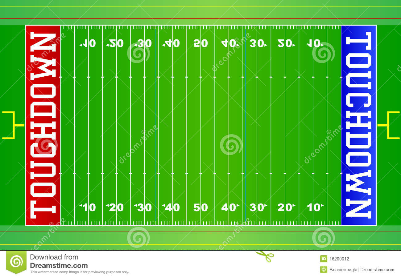 American Football Field NFL EPS Stock Vector - Illustration of goals