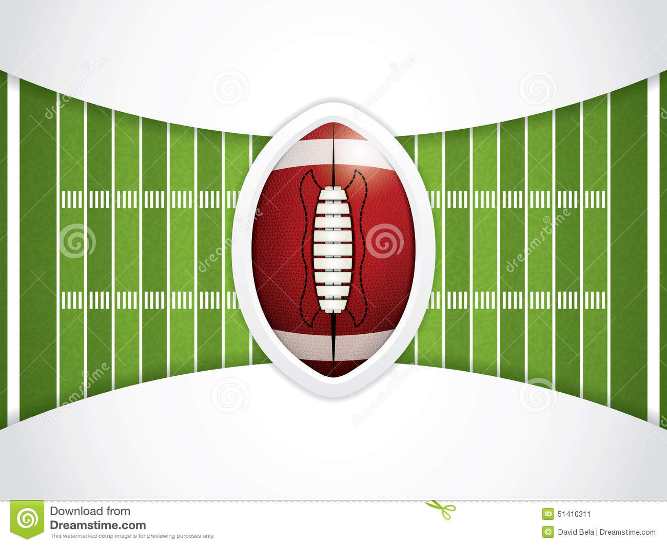 sideline on american football field stock image