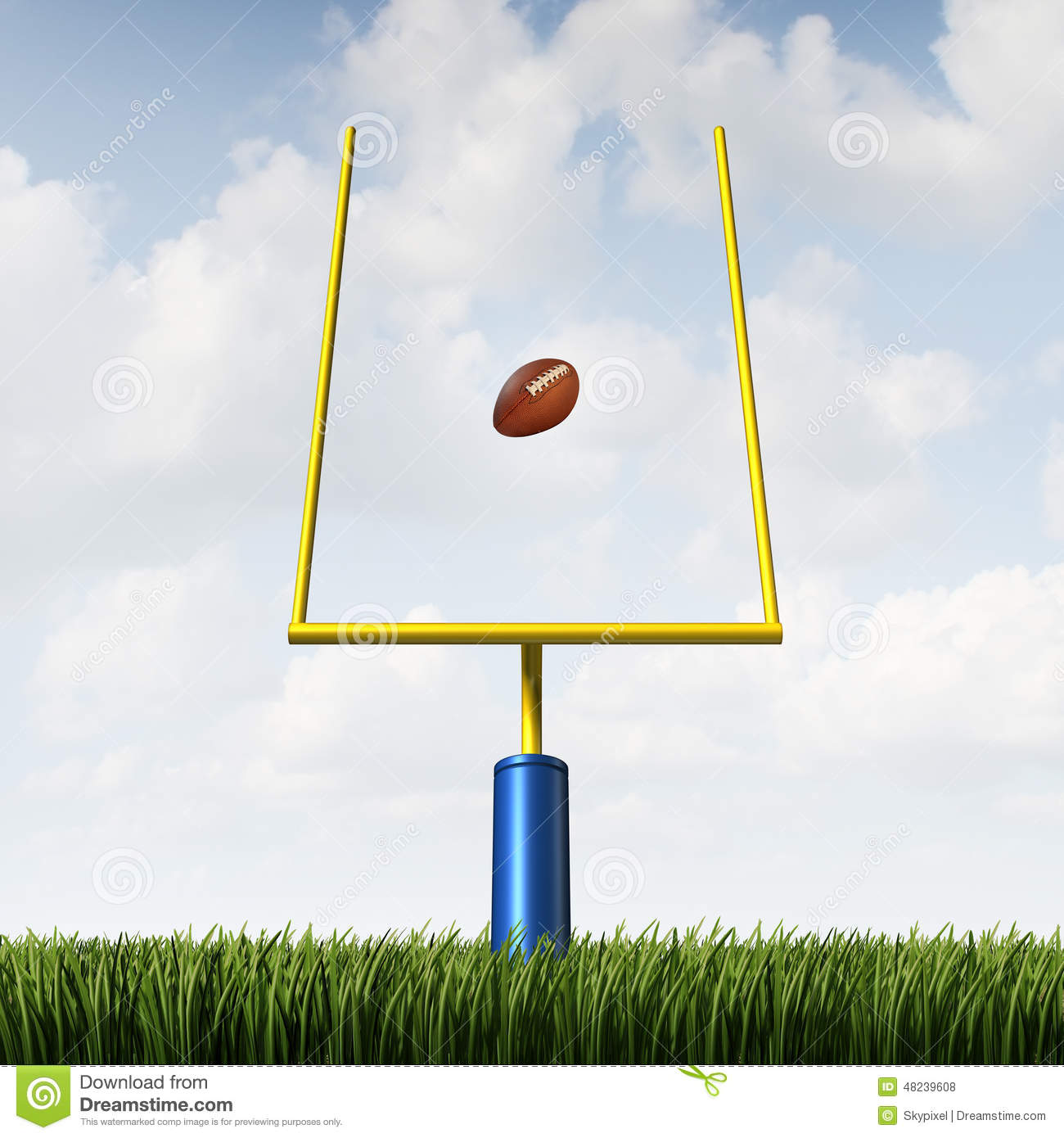 how to draw a football field goal