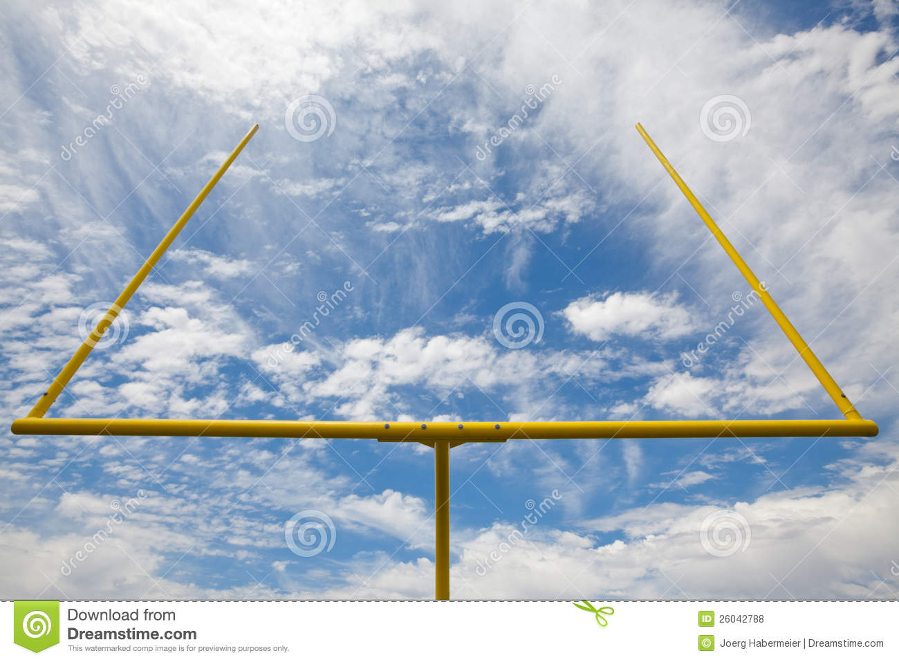 american football goal posts blue sky   clouds stock football field vector free download football field vector png