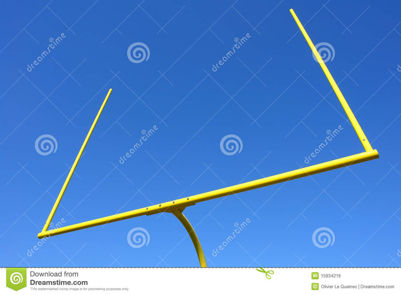 American Football Goal Posts Over Blue Sky Royalty Free ...