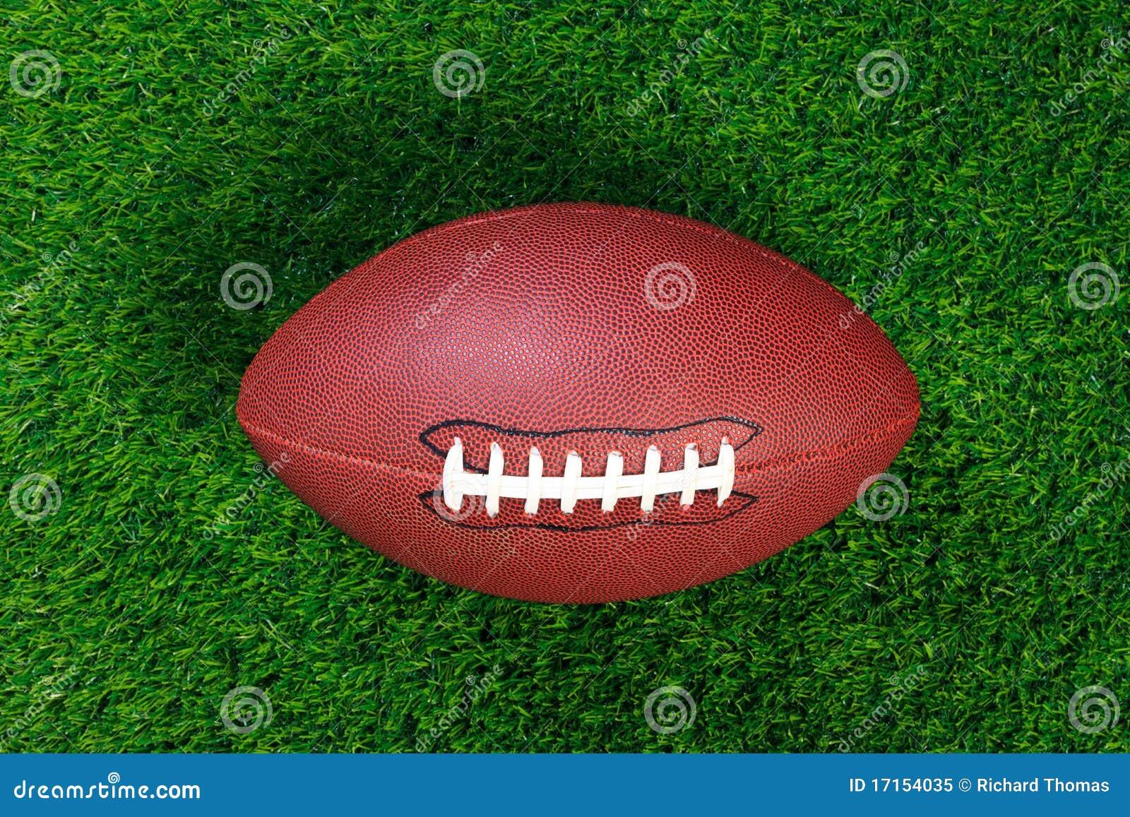 American football on grass