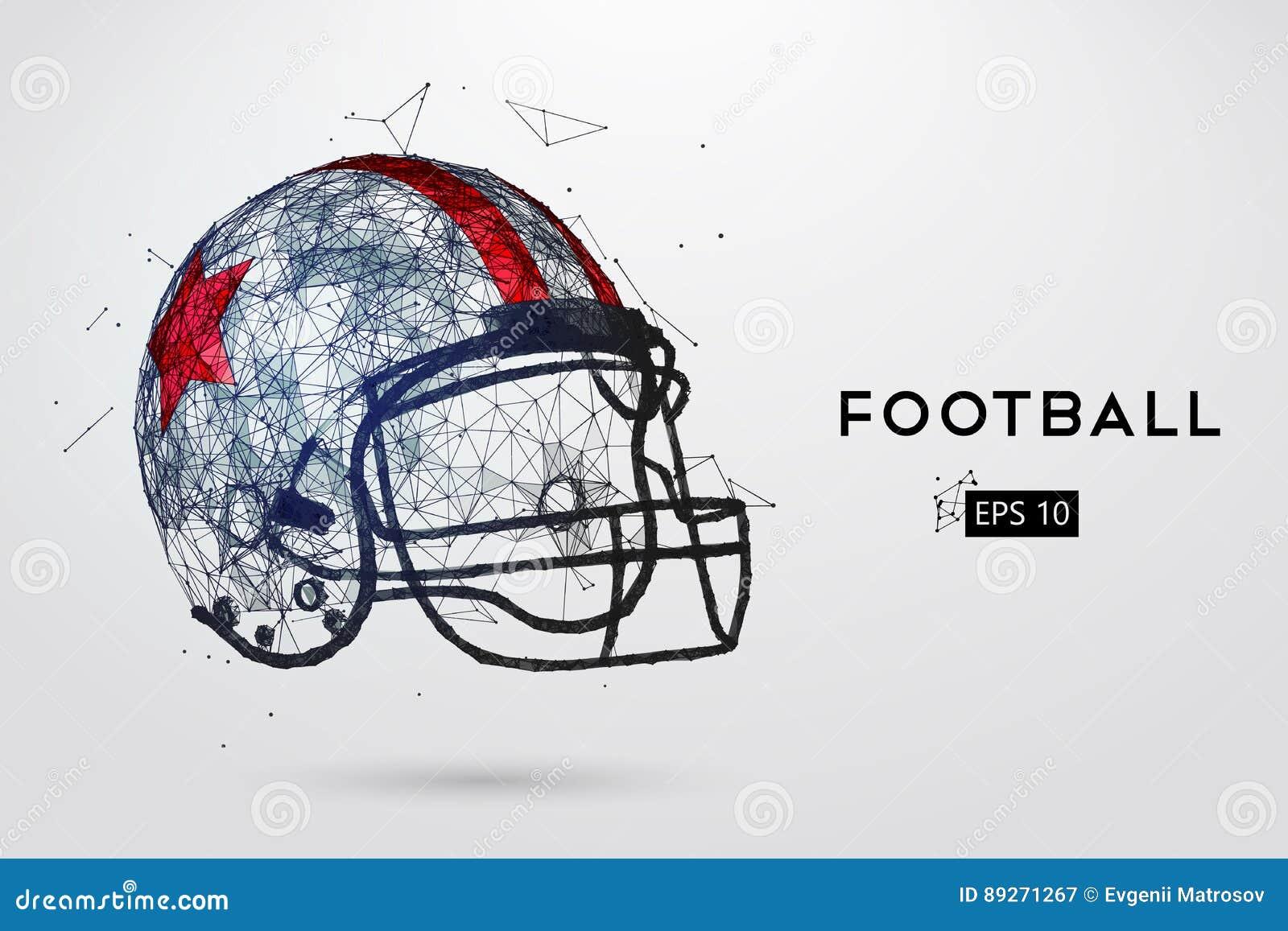 American Football Helmet In Black Vector Illustration Stock
