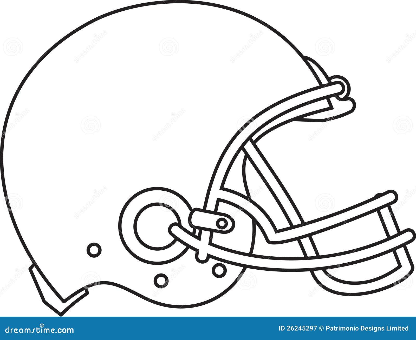 american football helmet line drawing stock vector image 26245297