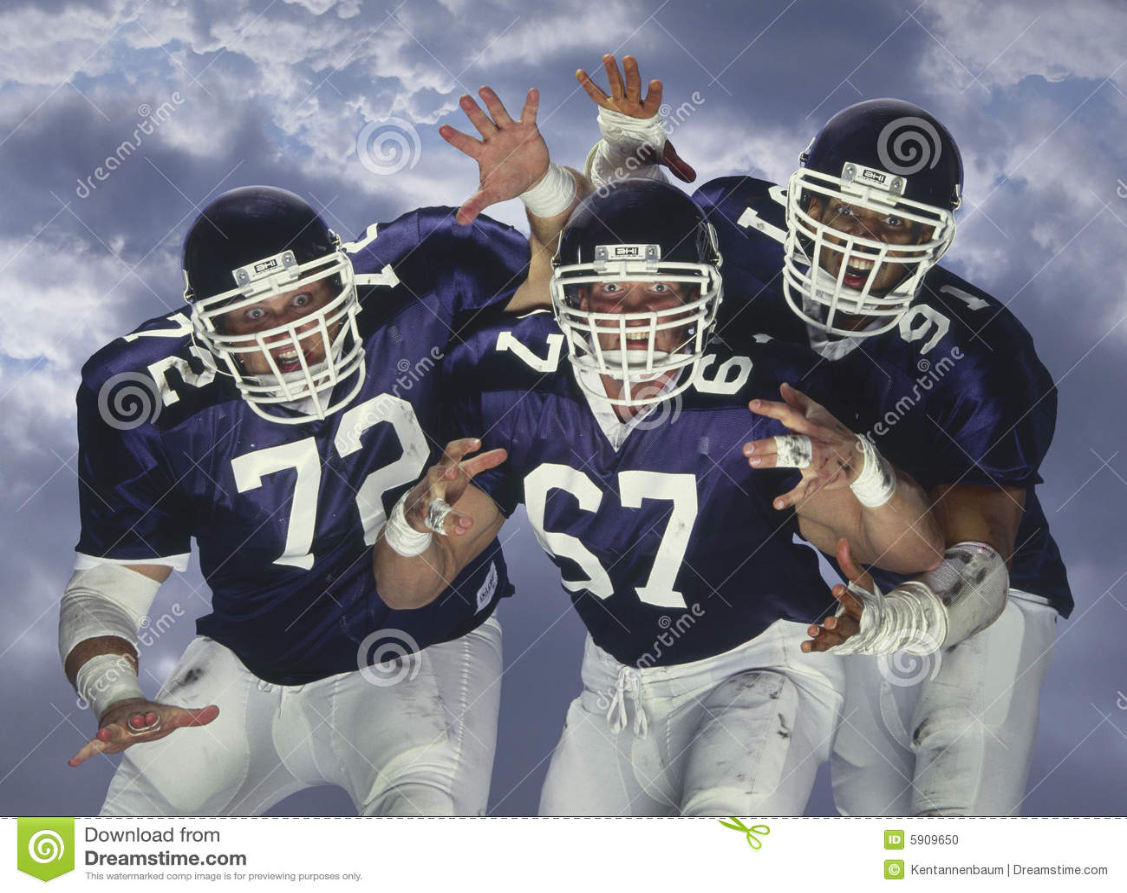 American football linesmen