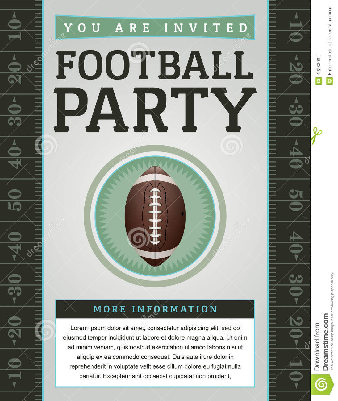 American Football Party Flyer Stock Vector - Image: 42363962