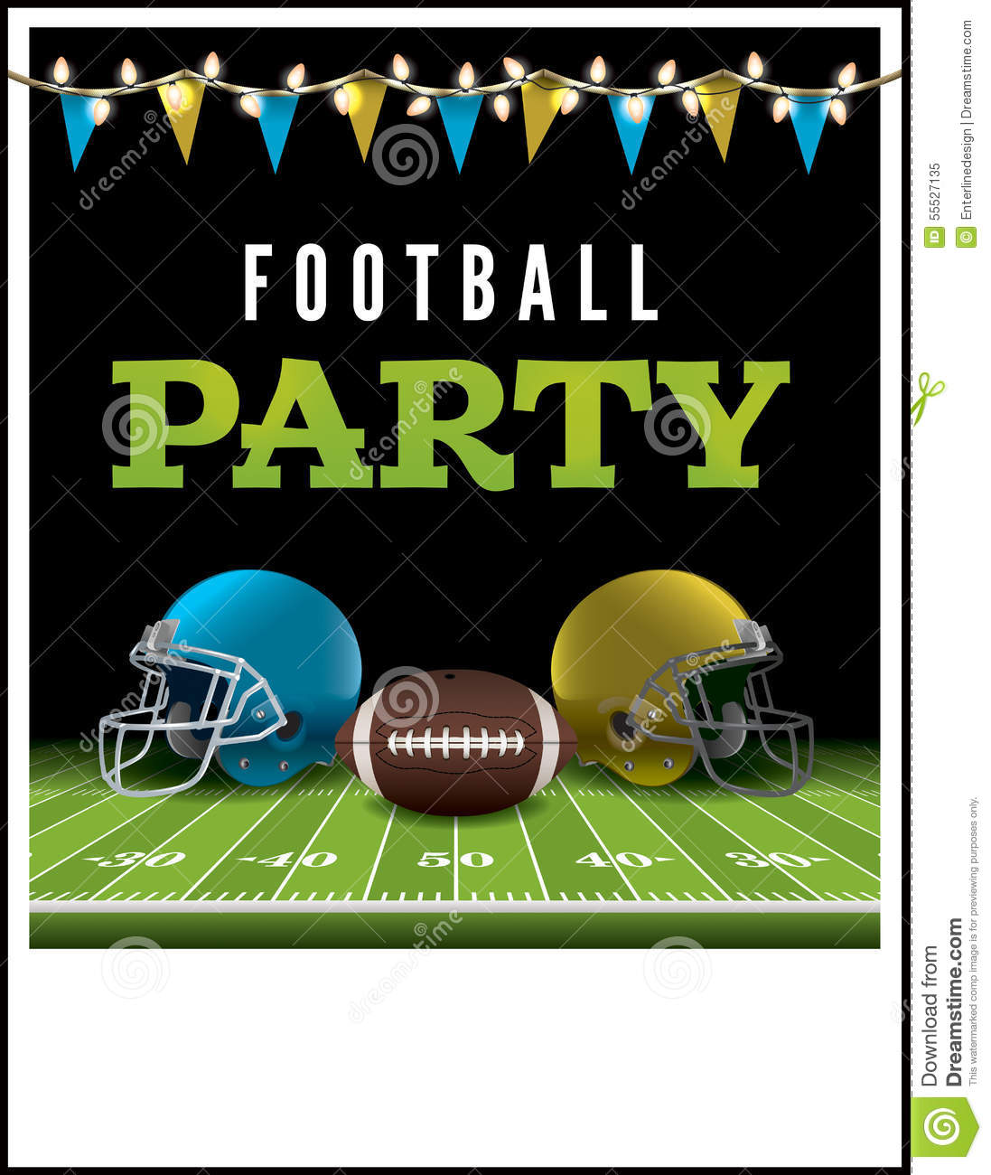 American Football Party Flyer Illustration Stock Vector ...
