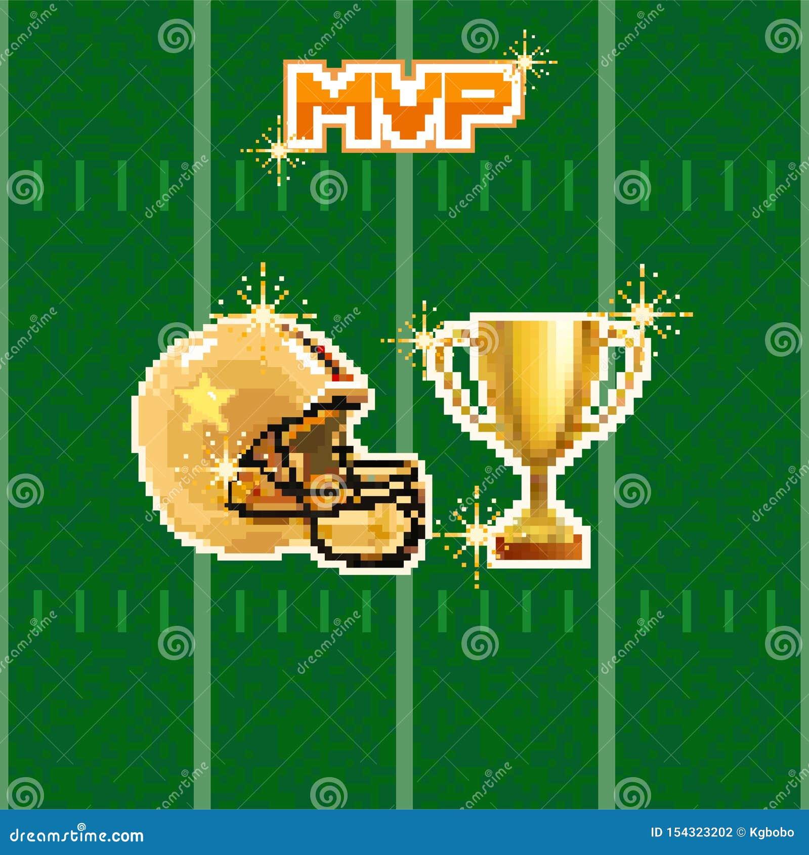 American Football Pixel Art Stock Vector Illustration Of