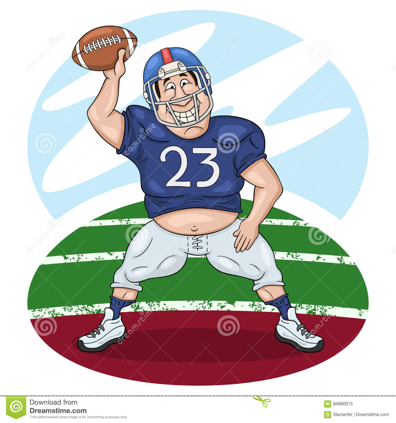 American Football Player Dancing With A Ball Stock Vector