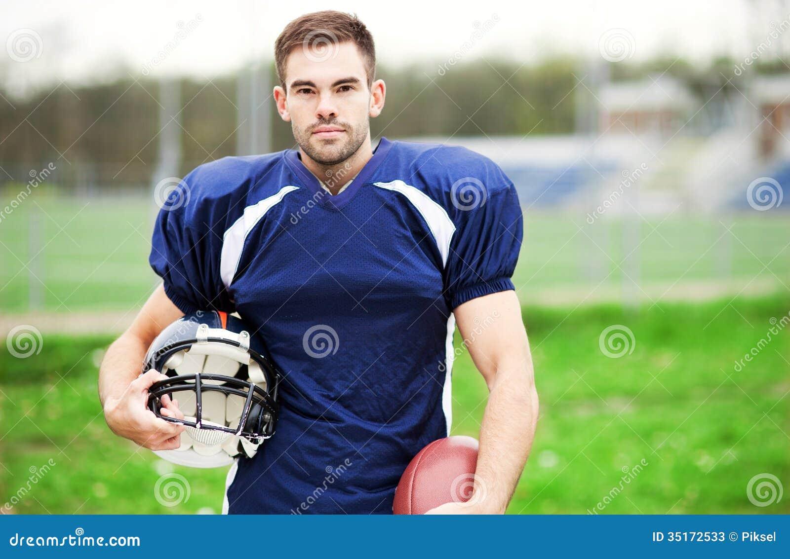 American Football Player Stock Photos Image 35172533