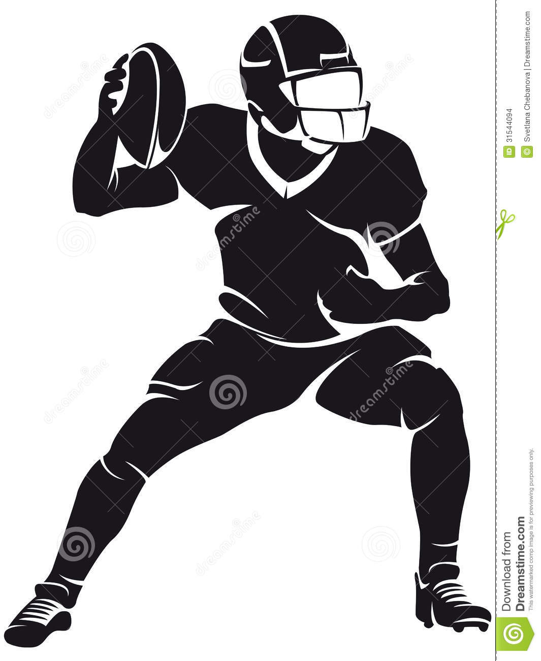 College football player png