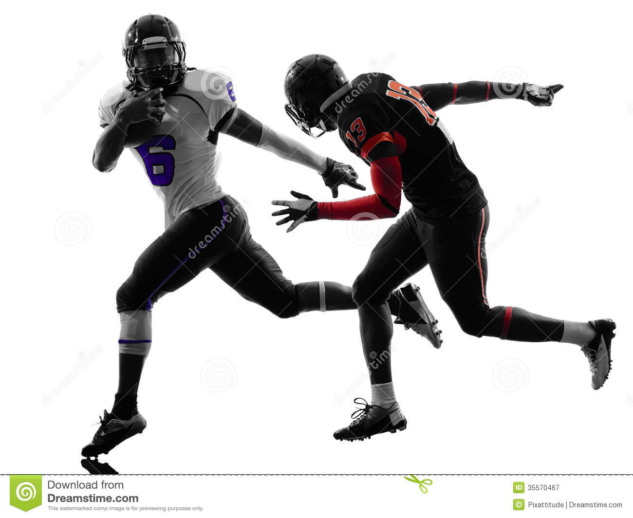 American Football Player Silhouette Royalty Free Stock Photography ...