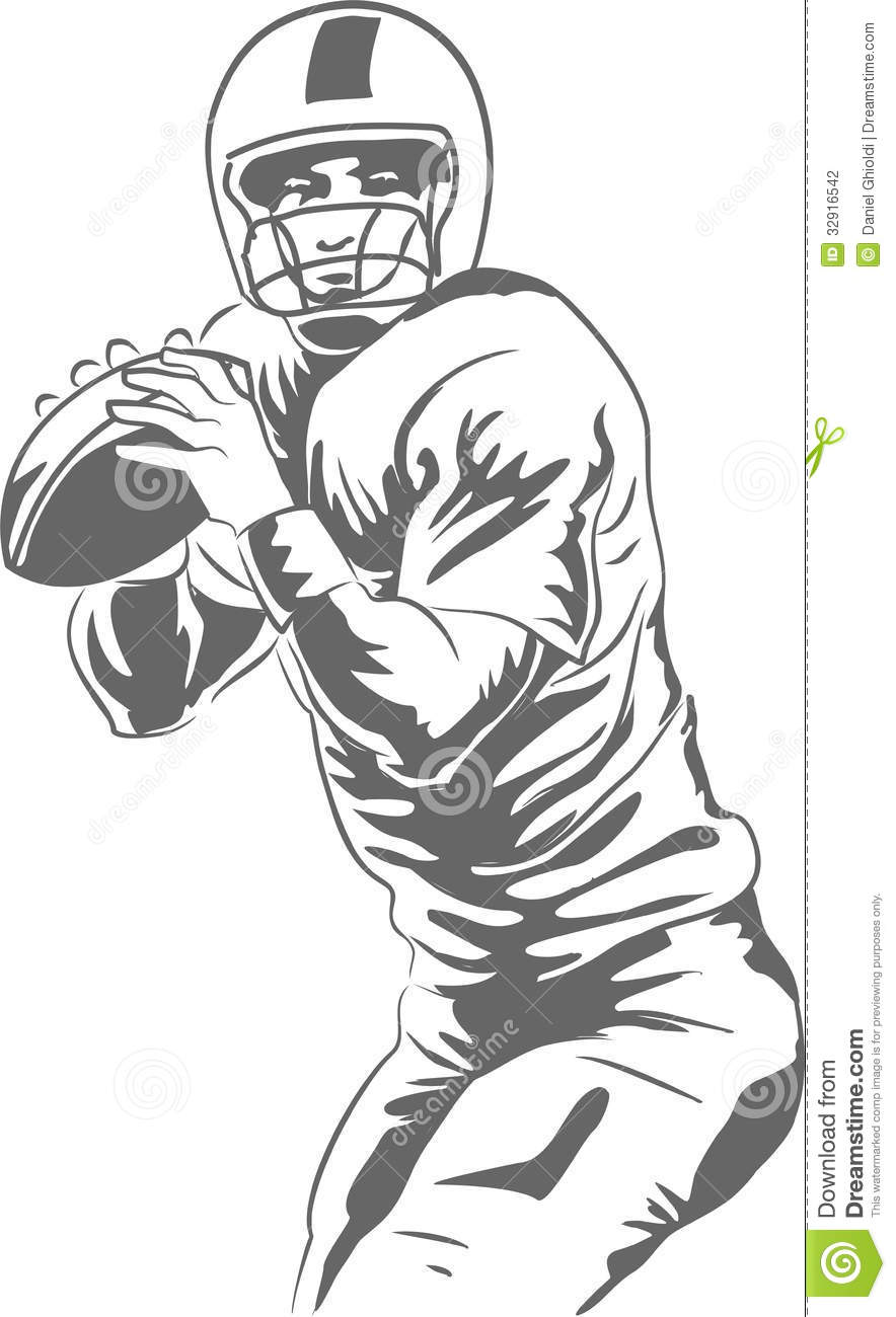 American Football Player Clipart American football player