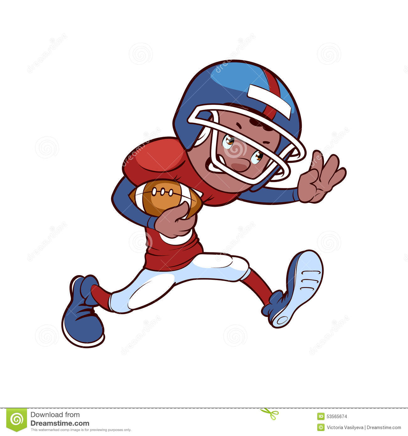 american football player stock vector image 53565674 touchdown clip art images Football Clip Art