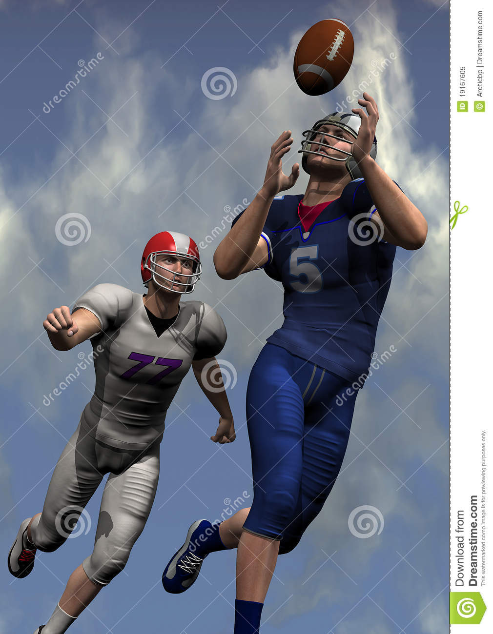 American Football Players Royalty Free Stock Photo - Image: 19167605