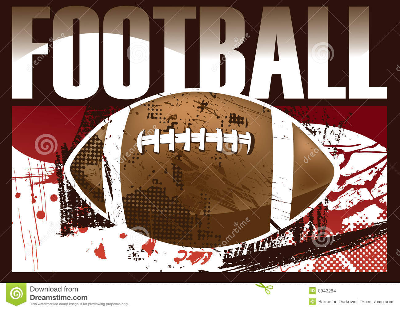 american football poster stock images