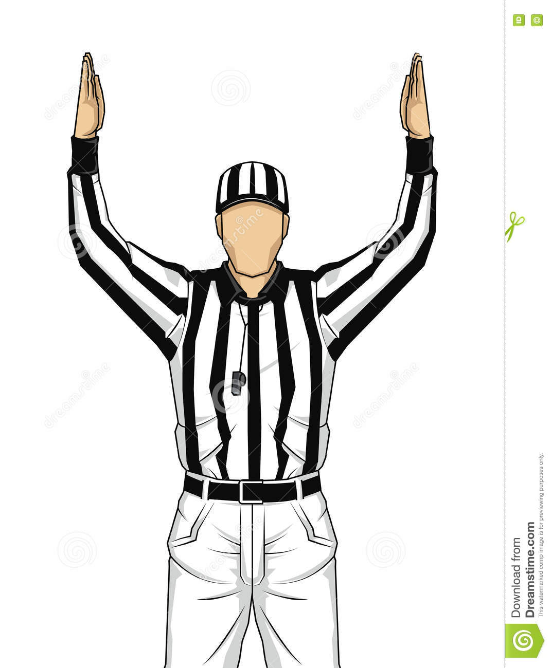 american football referee with both hands up as a soccer goal clip art black and white soccer goal pictures clip art
