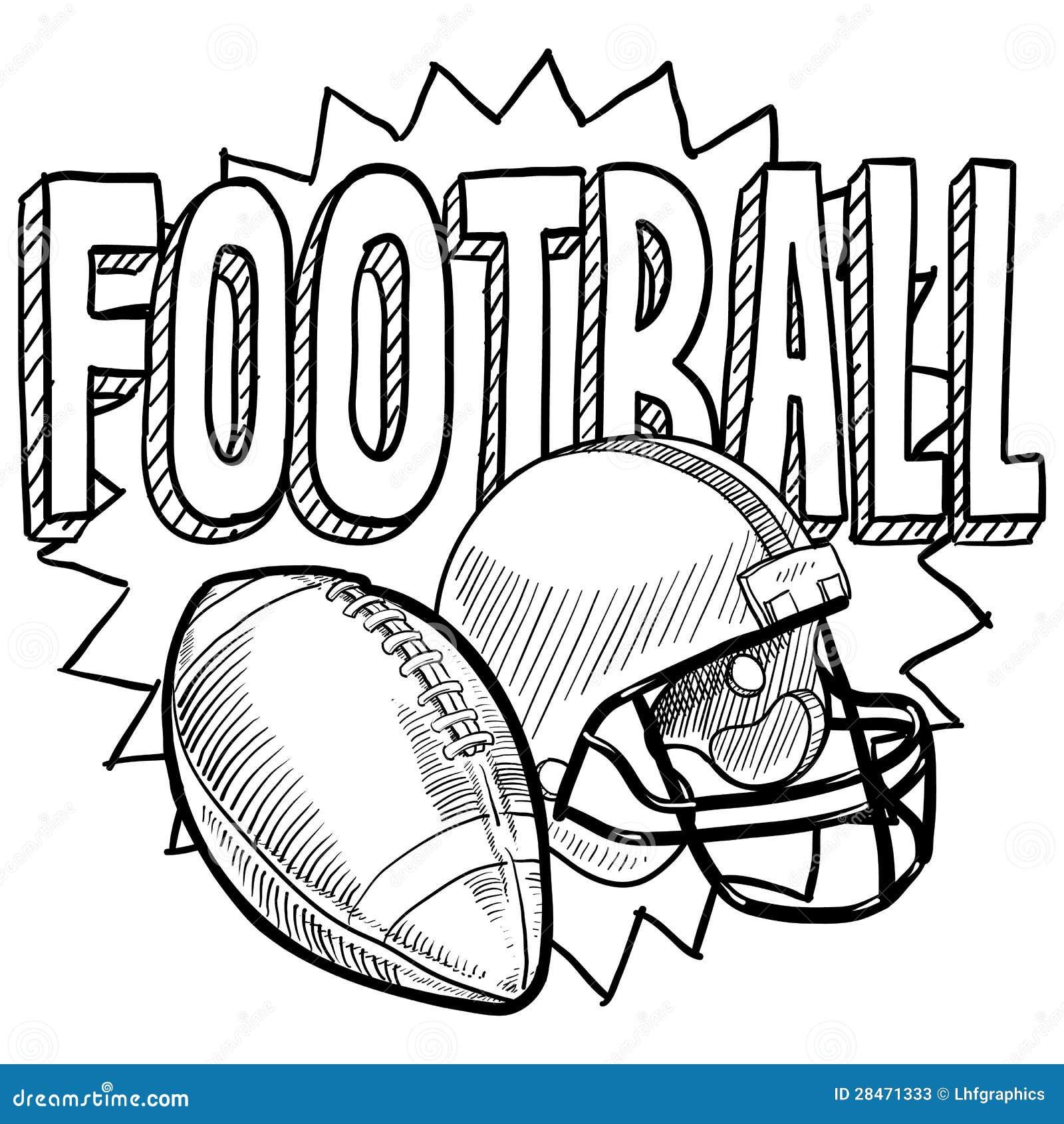 American Football Sketch Stock Vector Illustration Of